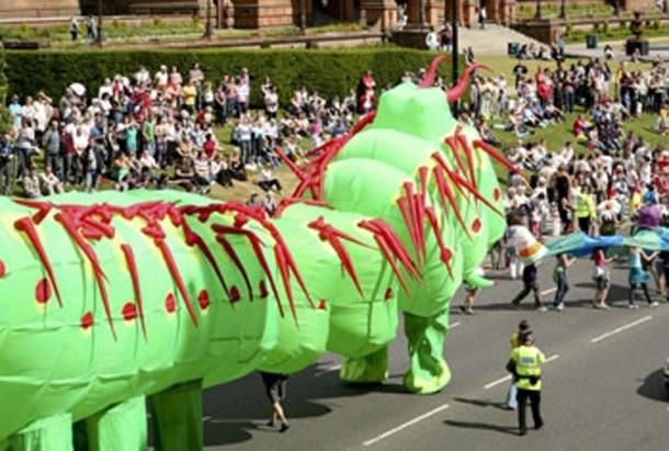 Culture Vulture, Carnival Parade West End Festival Glasgow, Scotland. Byte Size Scotland