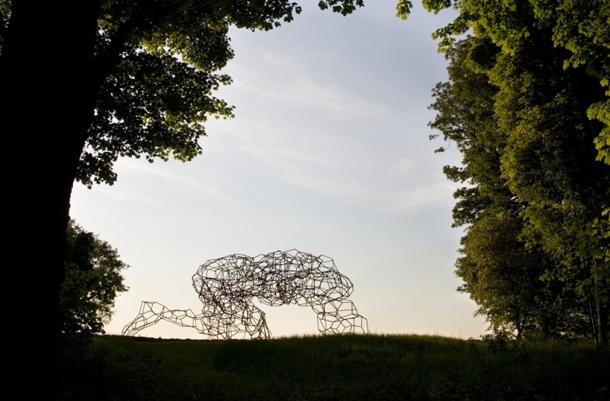 Culture Vulture: Antony Gormley Sculpture Firmament at Jupiter Artland, Scotland, An Art Lovers Dream - Byte Size Scotland