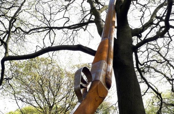 Culture Vulture: Cornelia Parker Sculpture Landscape with Gun and Tree, Jupiter Artland, Scotland. An Art Lovers Dream Byte Size Scotland