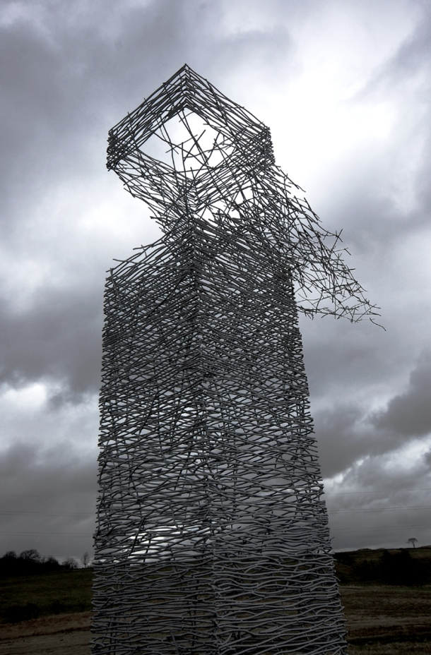 Rob Mulholland Skytower Sculpture, Rawyards, Airdrie, Scotland