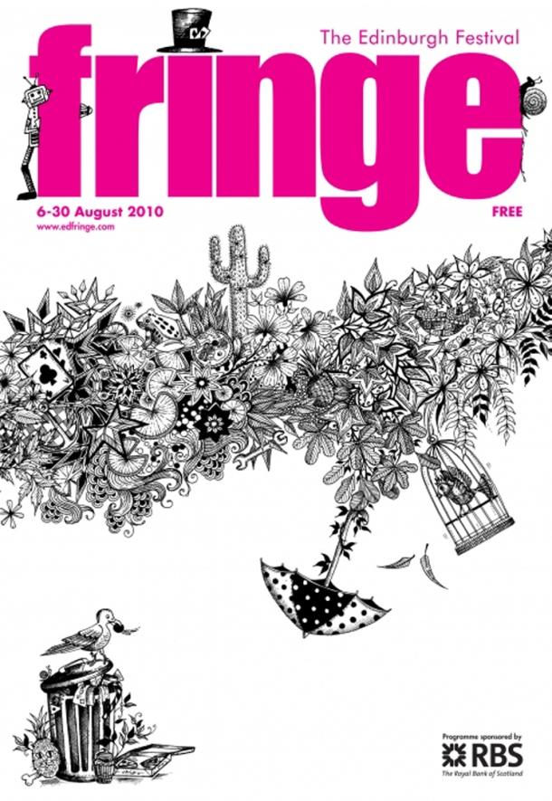 Johanna Basford The Edinburgh Festival Fringe Covers 2010